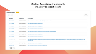 GDPR cookies acceptance tracking in admin