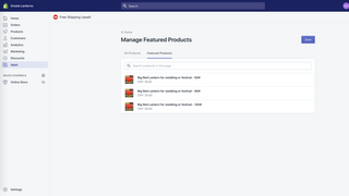 configure free shipping upsell - manage featured products