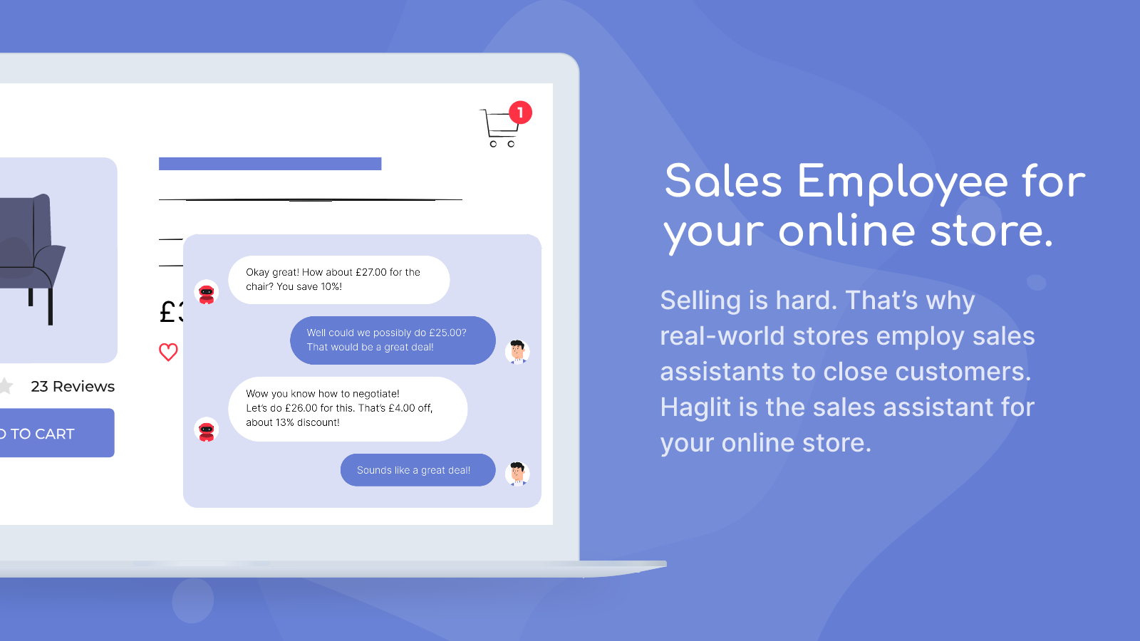 Sales employee for your online store