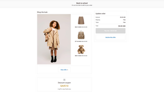Shop the look checkout upsell offer