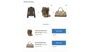 Bundle and save checkout upsell offer