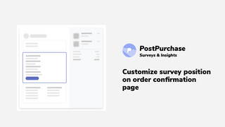 Customize survey position on order confirmation page