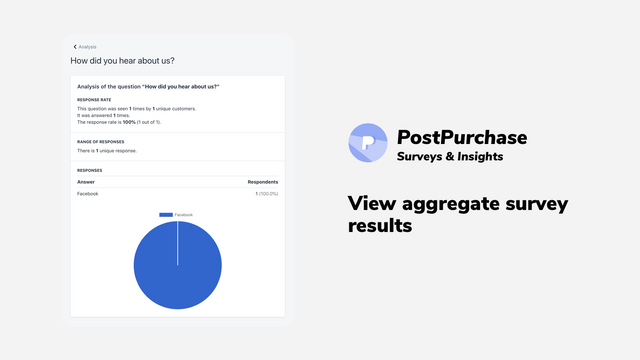 View survey results for individual orders