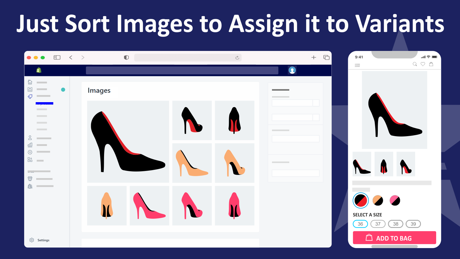 variant image automator shopify app for grouping variant images