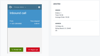 View existing customer details before accepting the call
