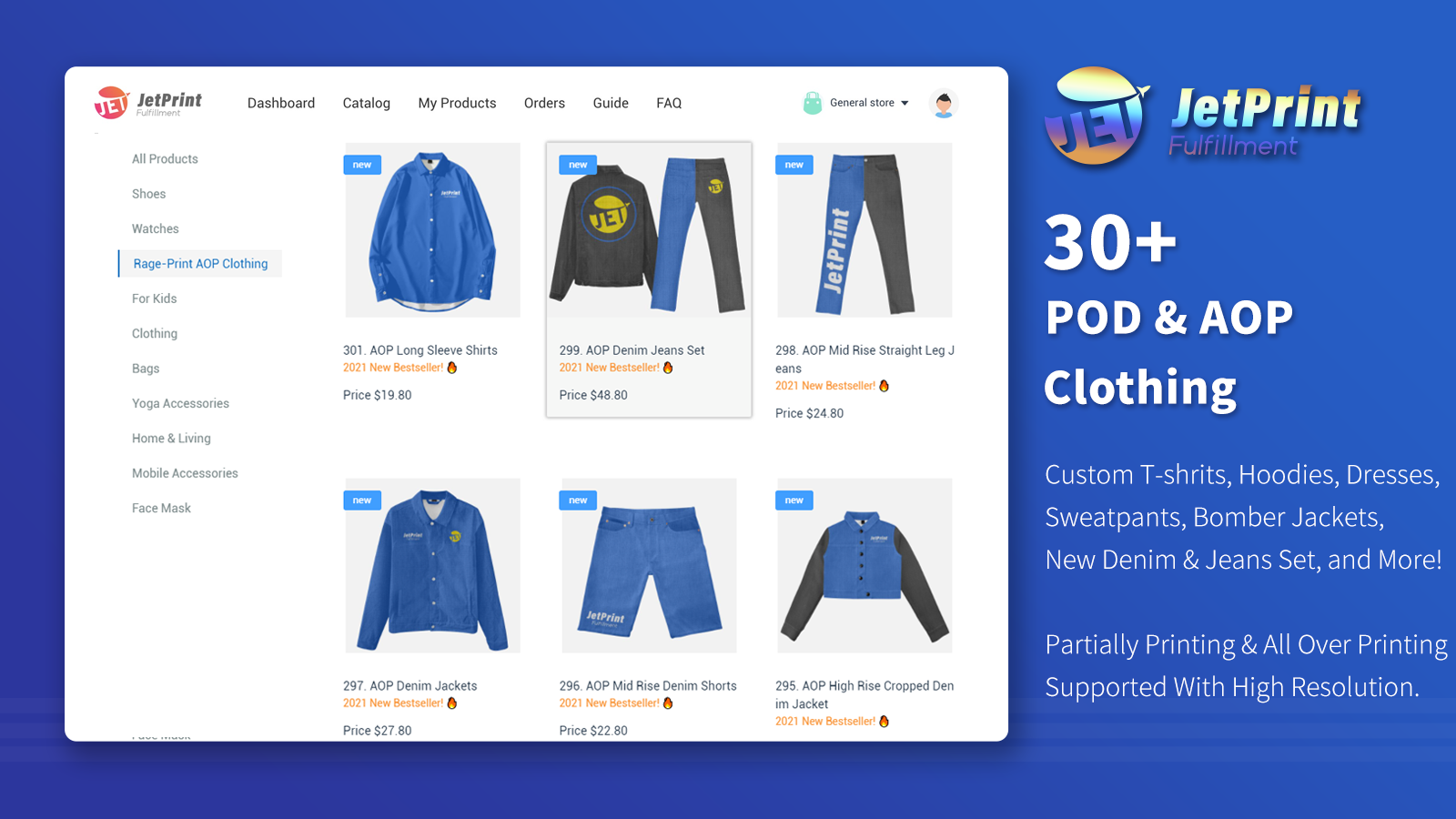 30+ Custom Clothing Types For Print On Demand Markets.
