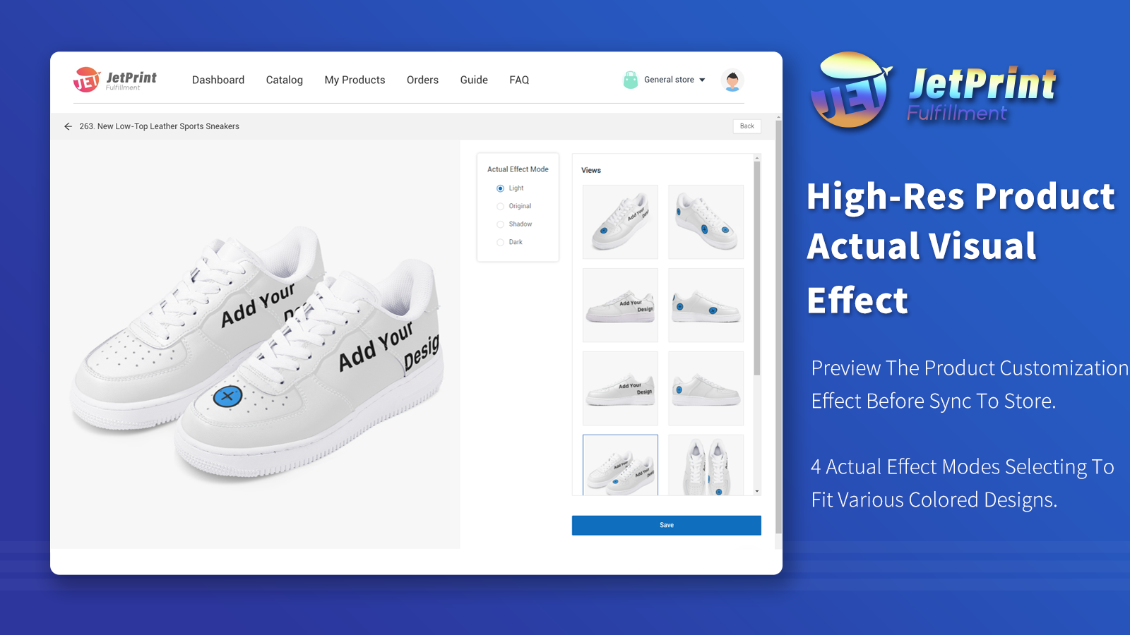 High-res Product Customization Effect Of Print On Demand Shoes