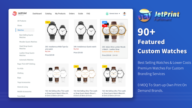 90+ Custom Watches For Print On Demand With Branding Designs.