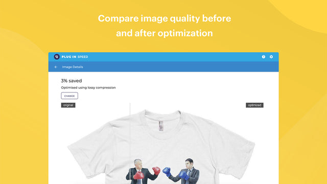Image optimization setup with lossy and lossless compression