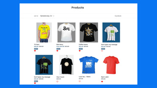 Wishlist on collection page