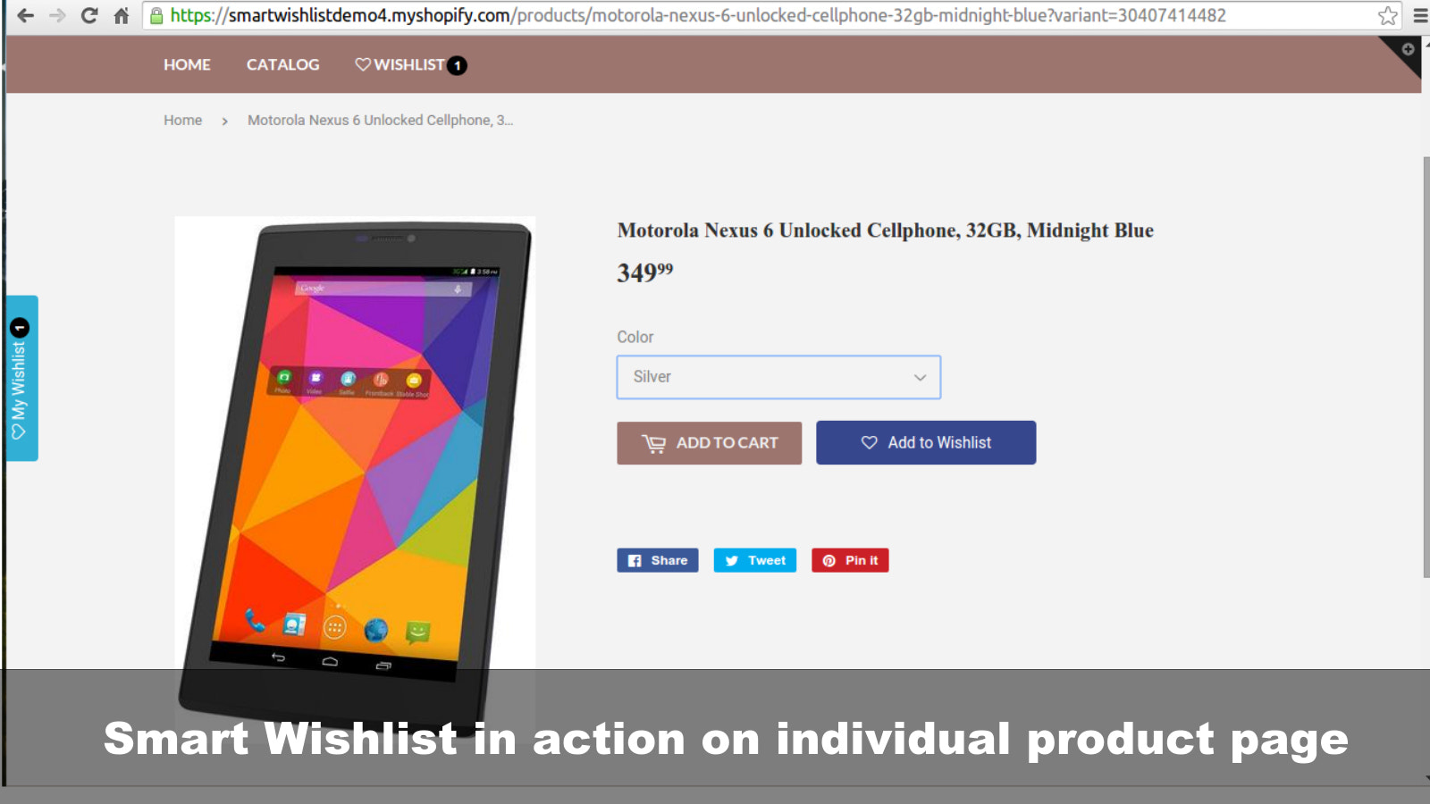 Smart Wishlist button on individual Product pages