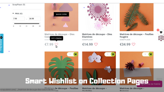 Smart Wishlist button on collection pages