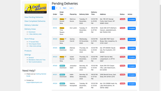 Easily manage delivery see what deliveries and pickups are next