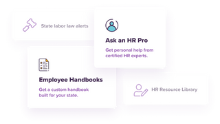 Get live HR help, guides, trainings, labor law alerts & more