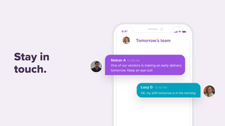 Message your team and send shift reminders & late alerts