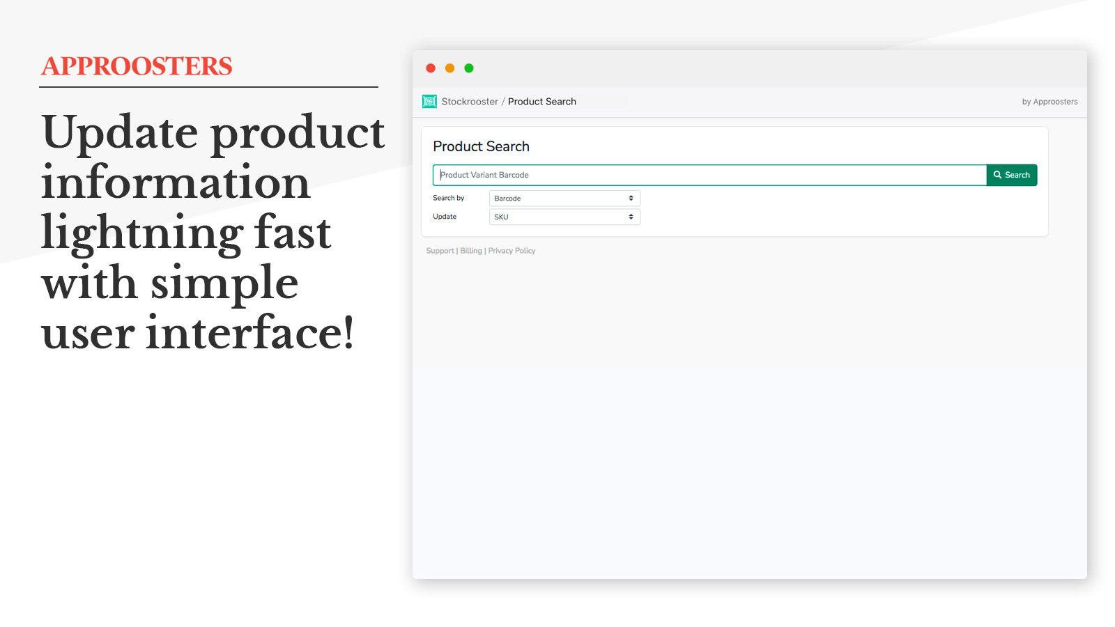 Update product information of your choice