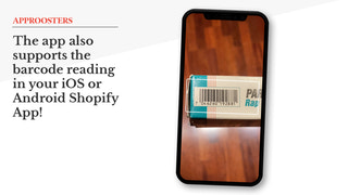 Supports the Shopify barcode search in your iOS or Android App