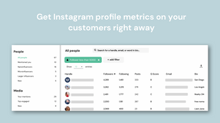 See Instagram profile metrics on your customers