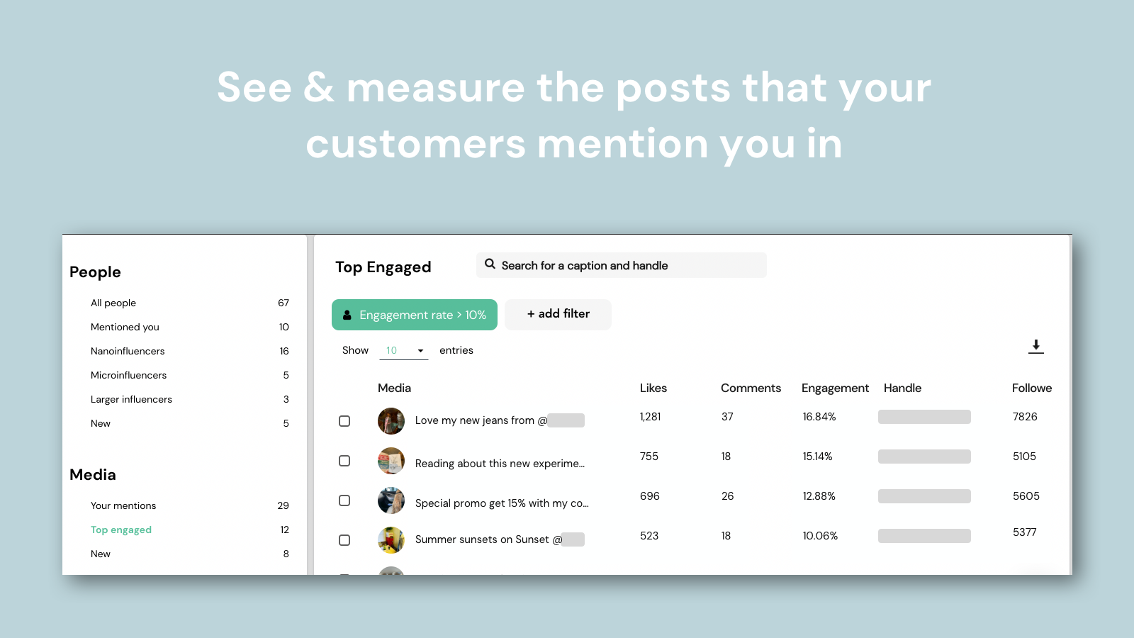 Measure the UGC your customers tag you in