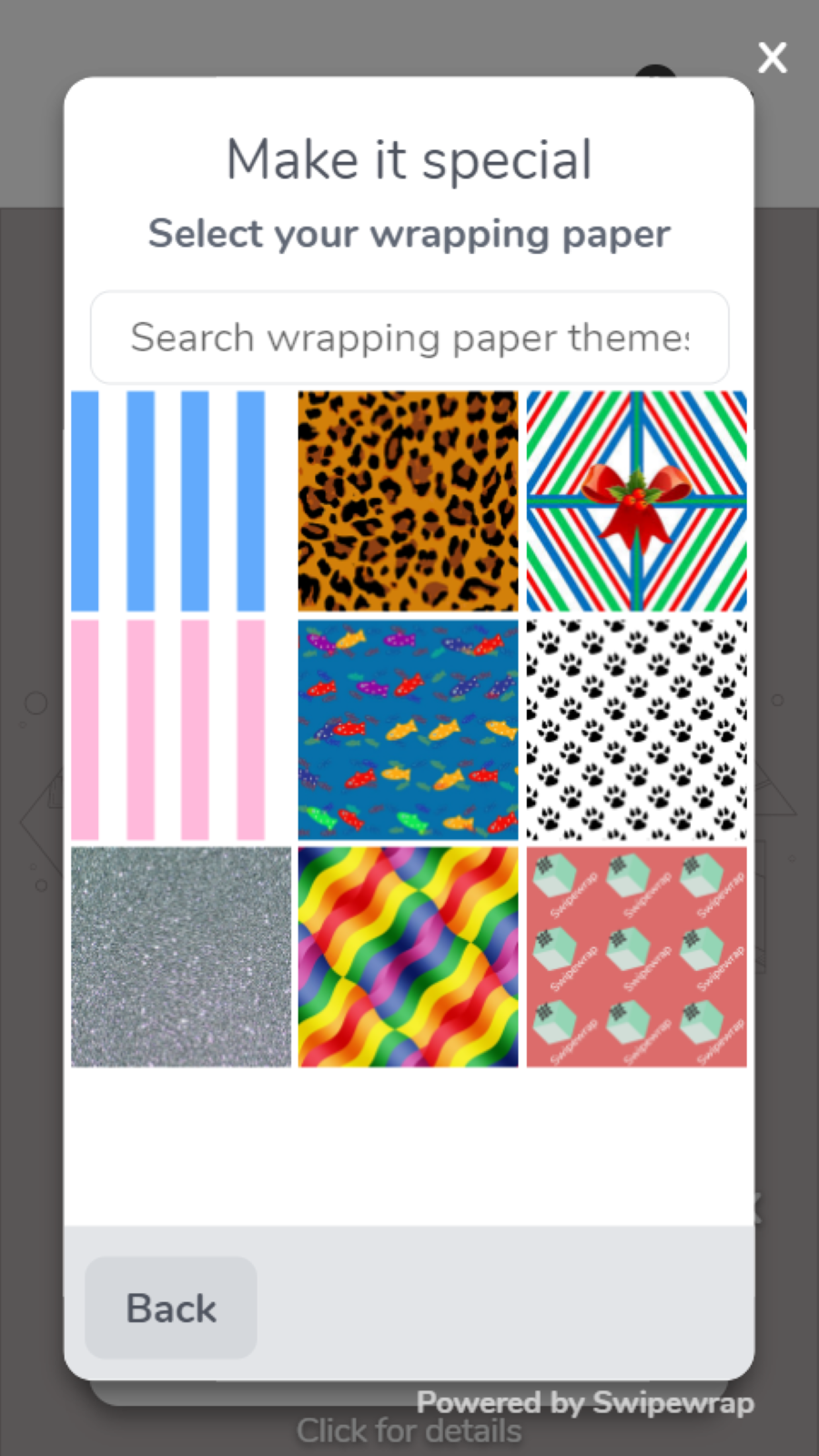 Select a wrapping paper