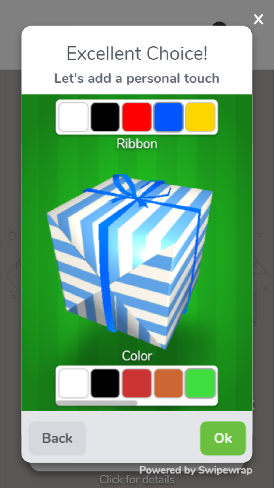 Personalize the digital gift box