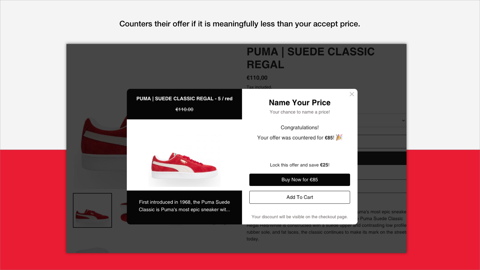 Name Your Price - Counter Offer