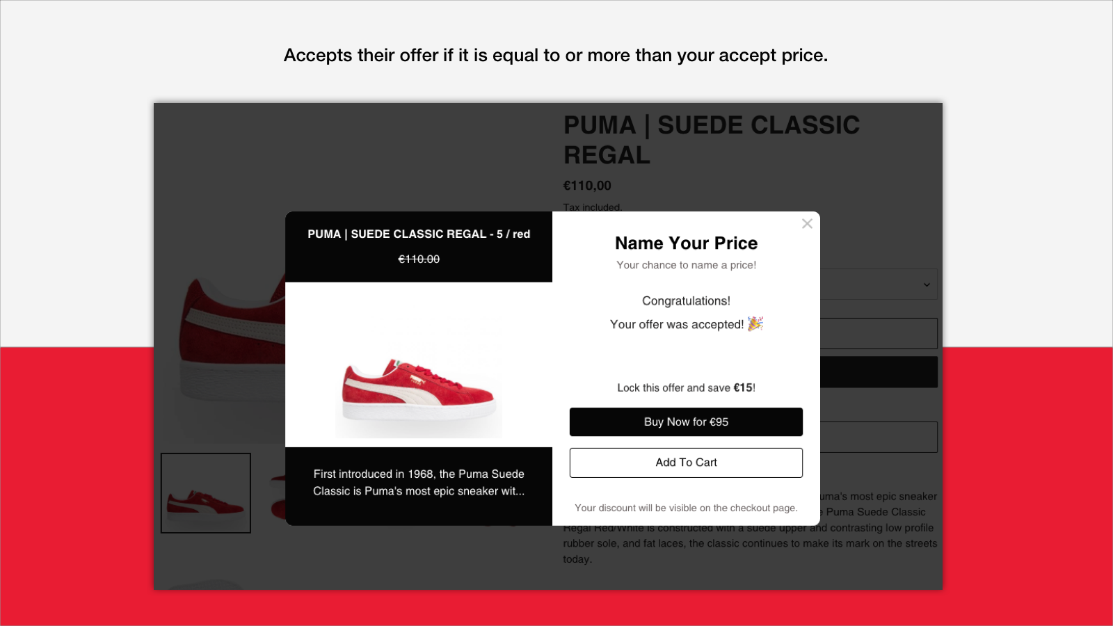 Name Your Price - Accept Offer