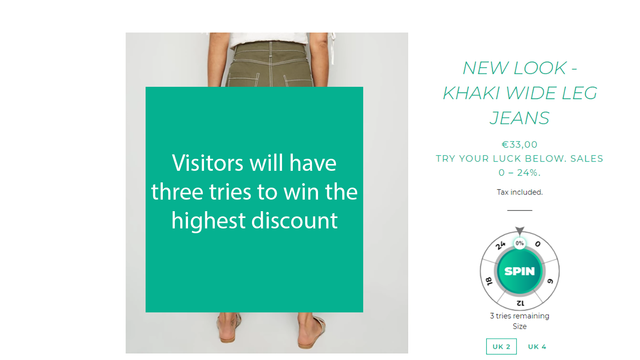 Customers will have three tries to win the highest discount