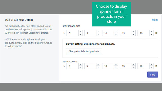 You can show spinner for all your products