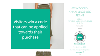 Visitors win a code that can be applied towards their purchase