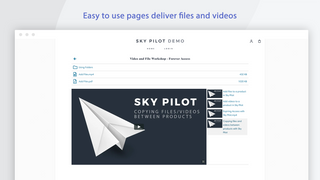 A page in your store delivers files and videos to customers