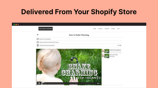 Deliver files and videos to customers from within your store
