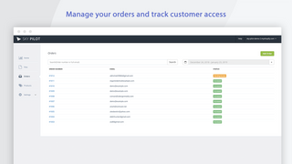 Manage digital orders and track access