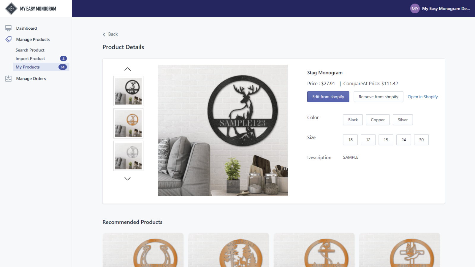 Easily add, remove, or modify products in your Shopify store