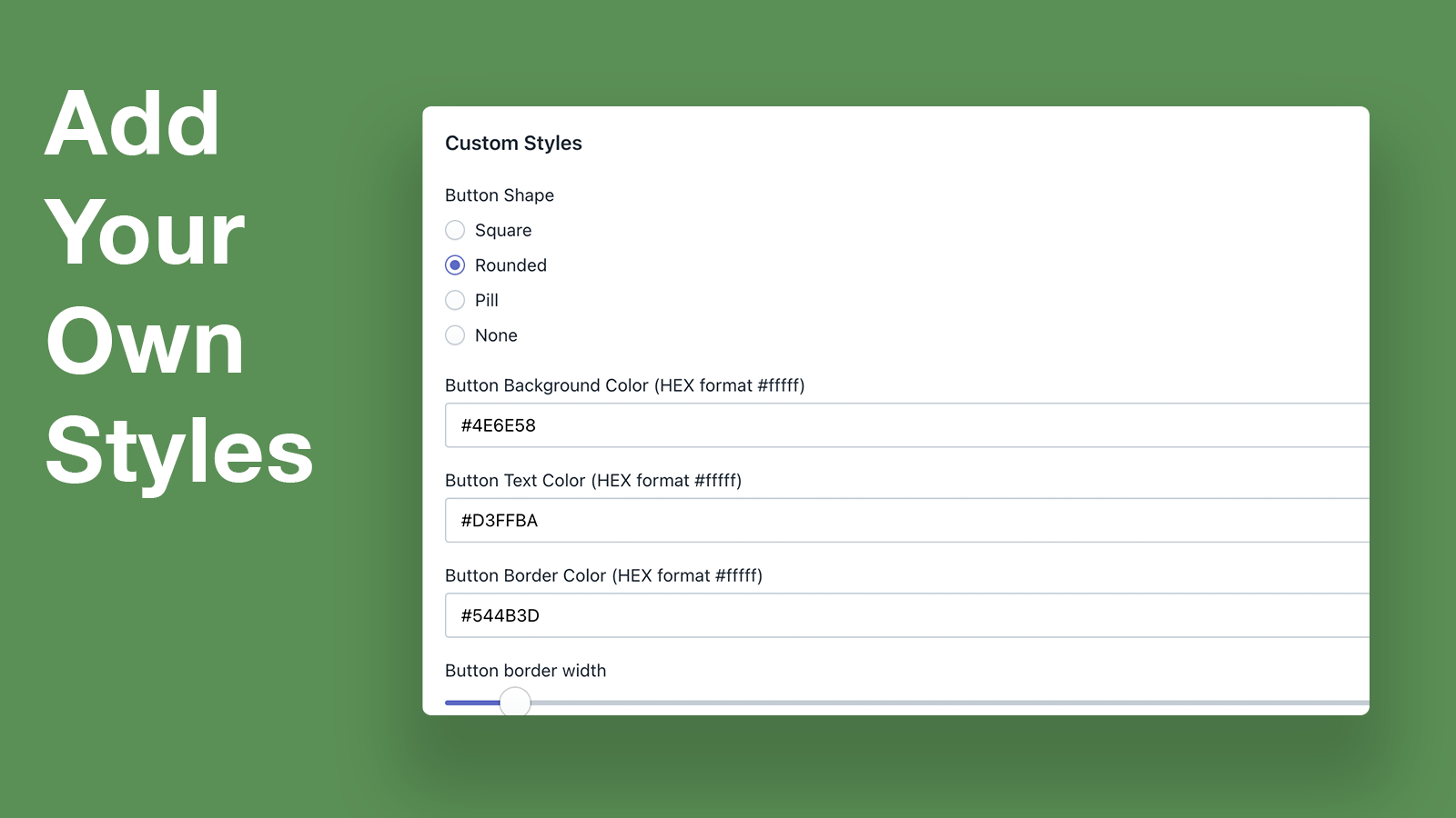 Customize Your Links