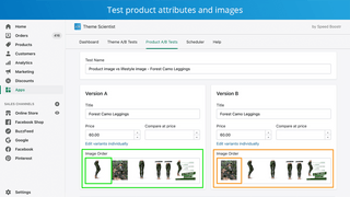 Test product attributes and images