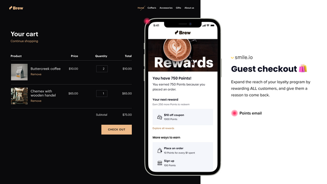 Prevent abandoned cart with loyalty points on push notification
