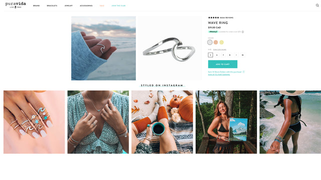 Shop shoppable instagram and ugc with foursixty