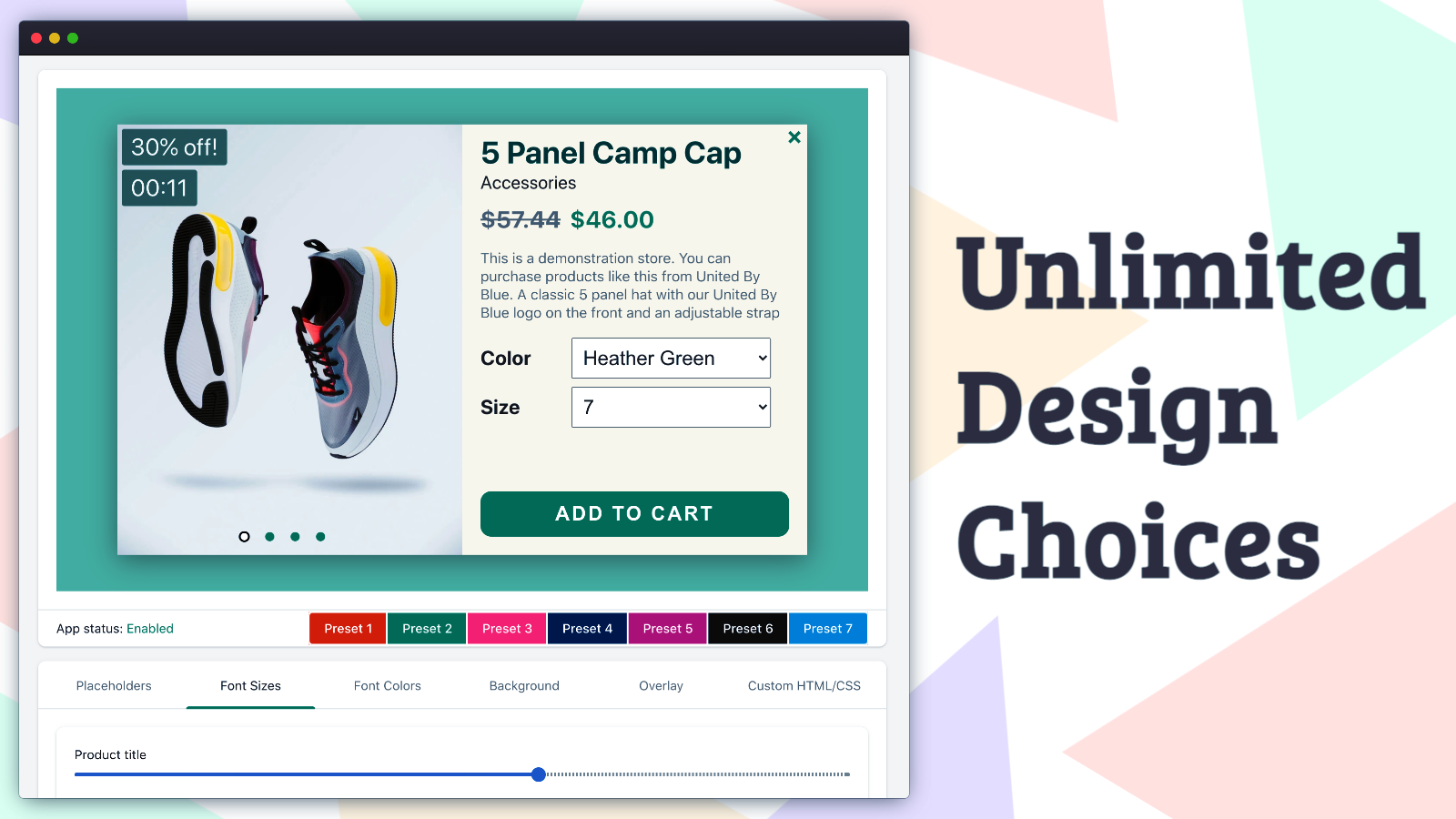 Unlimited Design Choices