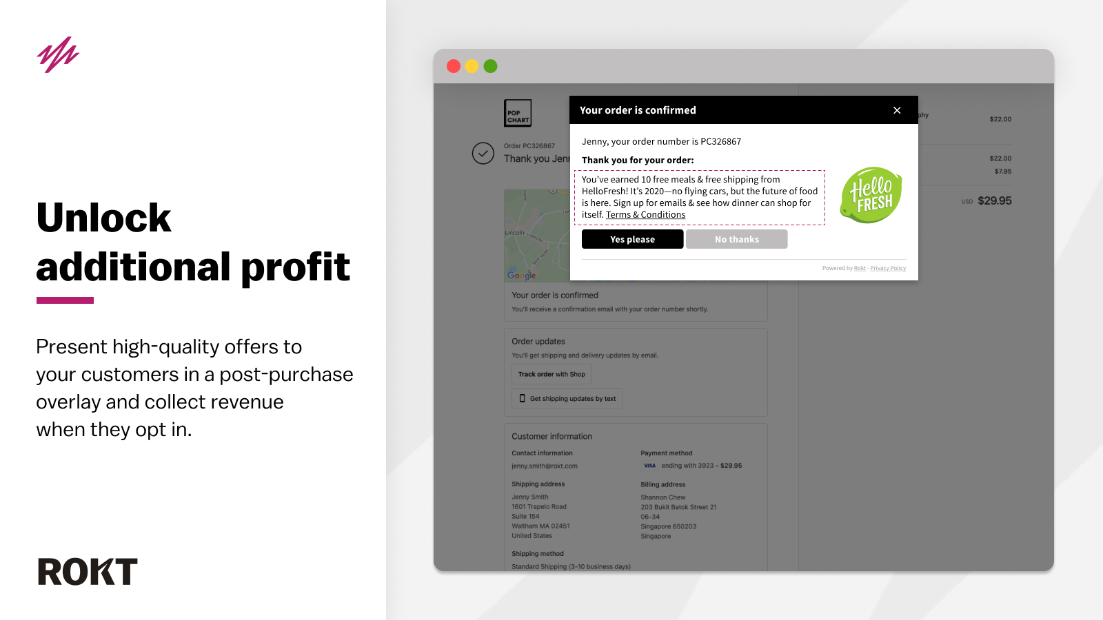 Generate revenue by presenting post-purchase offers to customers