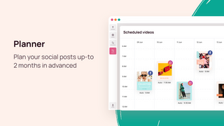 Plan your social posts up-to 2 months in advanced