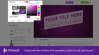 Customize the primary and secondary colors to suit your brand