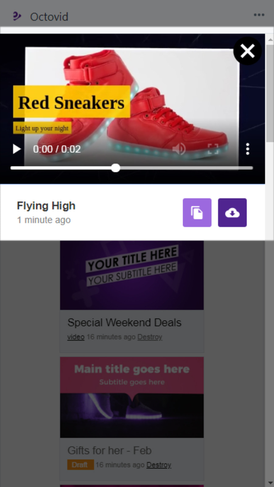 View final product videos and download mp4 video files