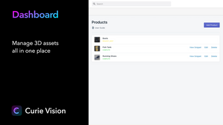 Manage 3D assets all in one place