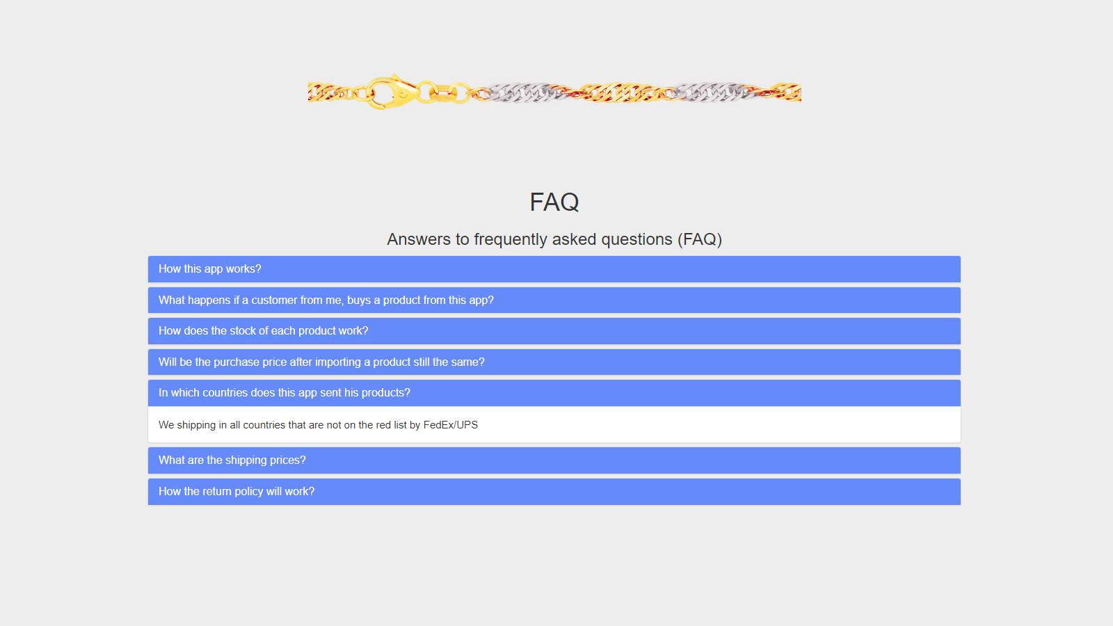 FAQ about our app and service