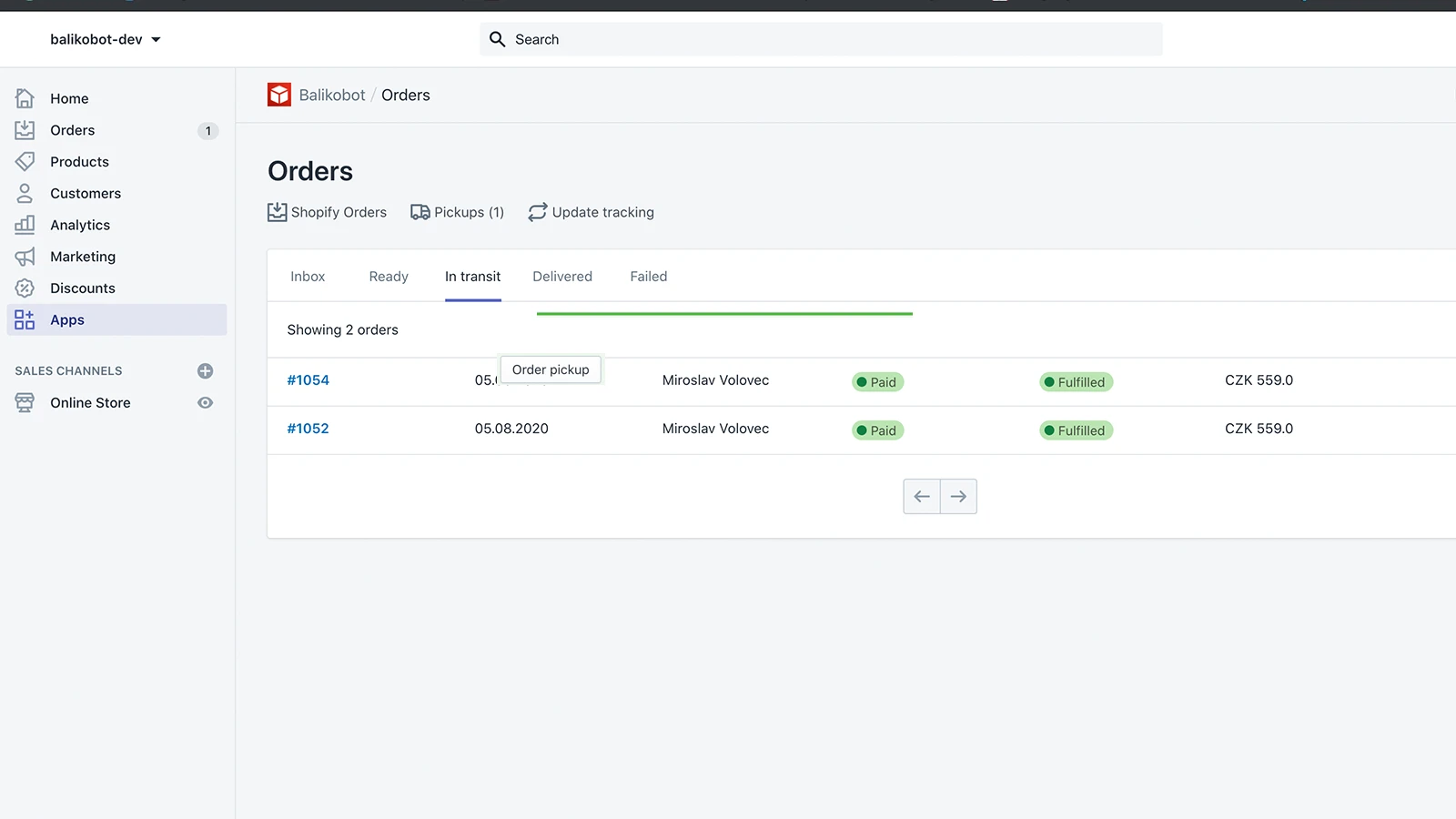 You can manage pickups straight in Shopify