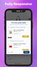 Fully responsive cart upsell pop up