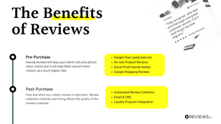 The Benefits of Reviews
