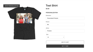 Customers see your mockup with their personalizations
