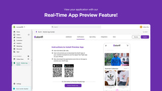 Preview your App with Storifi's Real-Time App Preview Feature